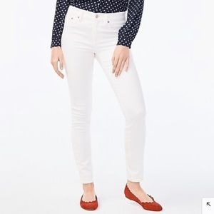 J. Crew White Skinny Crop Jean